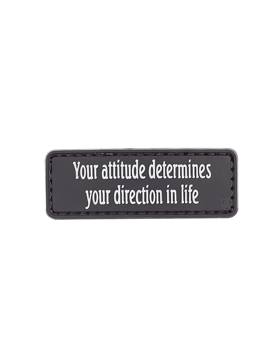 YOUR ATTITUDE DETERMINES MORALE PATCH