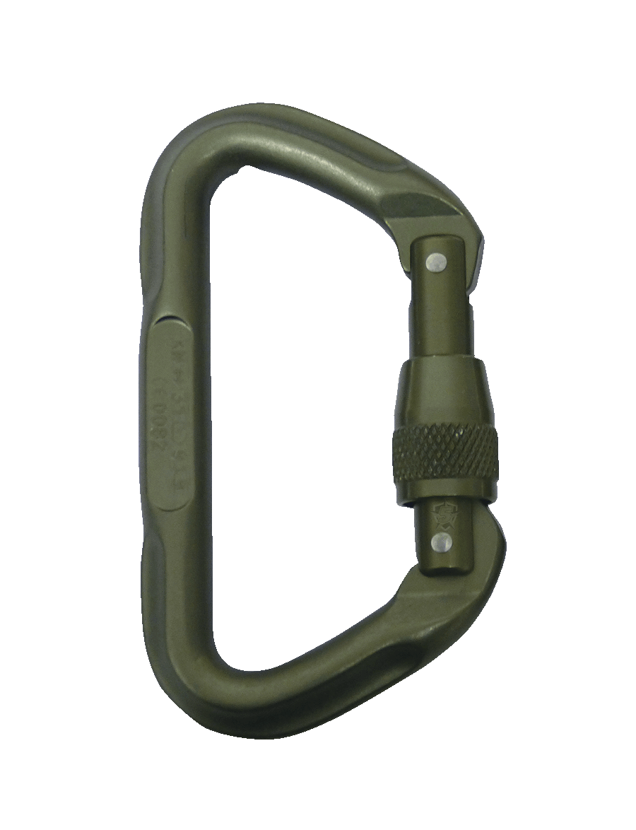 OMEGA PACIFIC® 7000 SERIES LOCKING TACTICAL D CARABINER