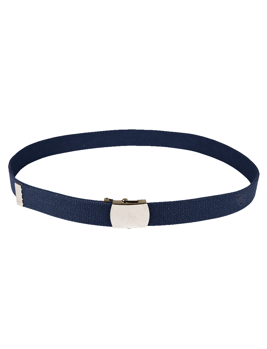 "44"" WEB BELT WITH METALIC CLOSED FACE BUCKLE"