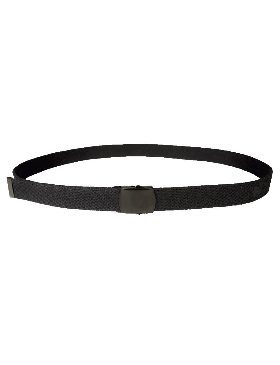 "44"" WEB BELT WITH BLACK CLOSED FACE BUCKLE"