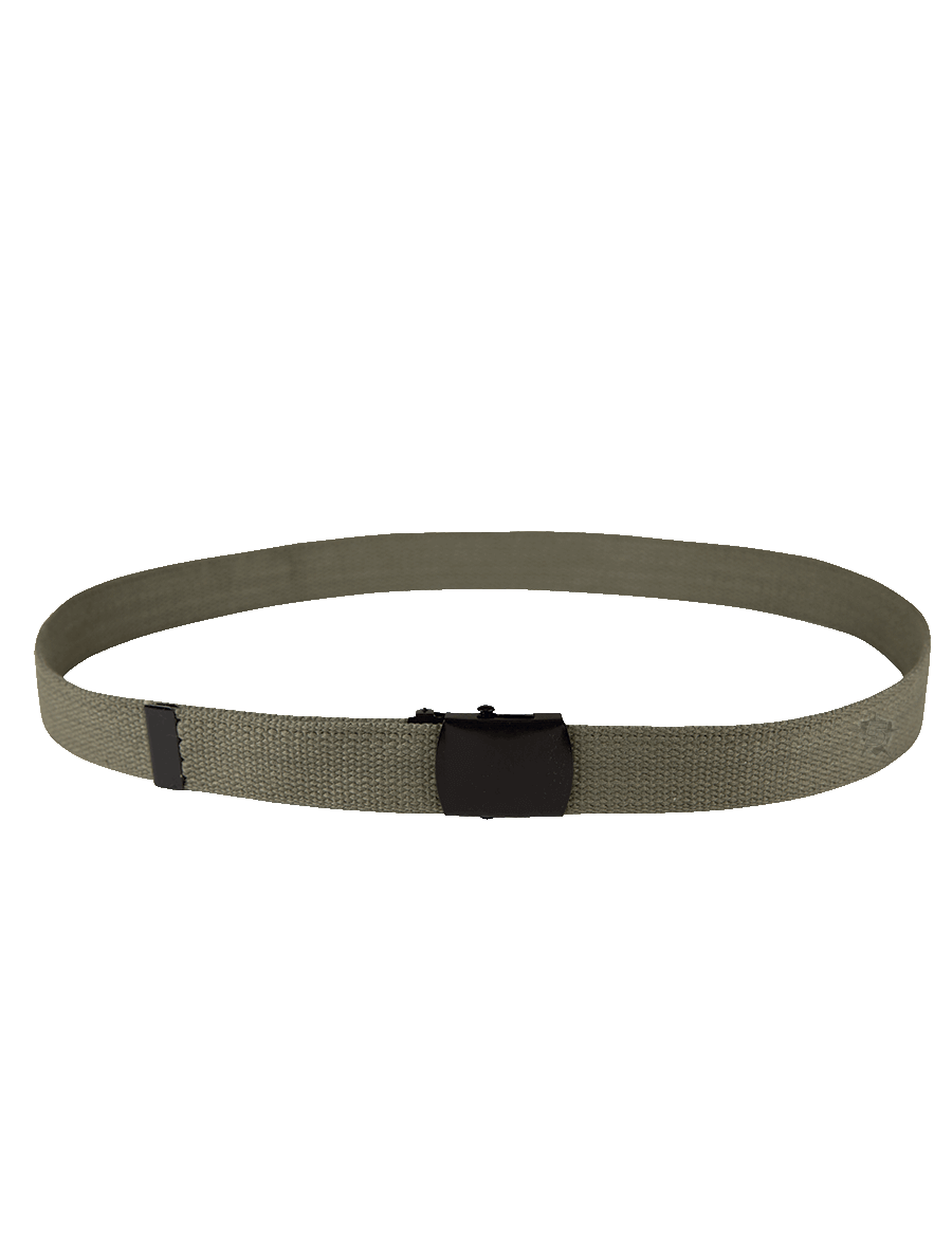"54"" WEB BELT WITH BLACK CLOSED FACE BUCKLE"