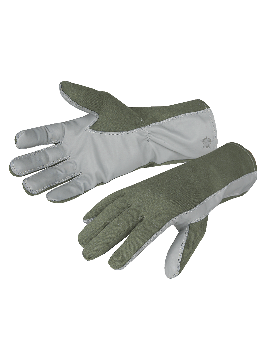NOMEX/LEATHER FLIGHT GLOVES