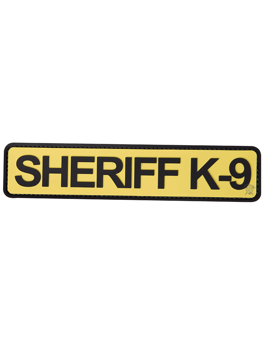 "SHERIFF K-9 1.75""X8"" MORALE PATCH"