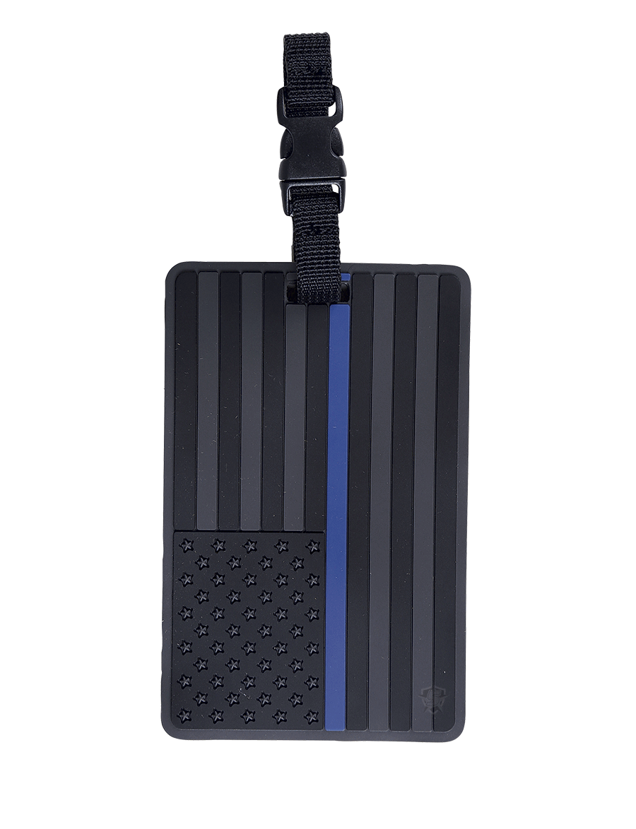 U.S. FLAG WITH BLUE STRIPE LUGGAGE TAG