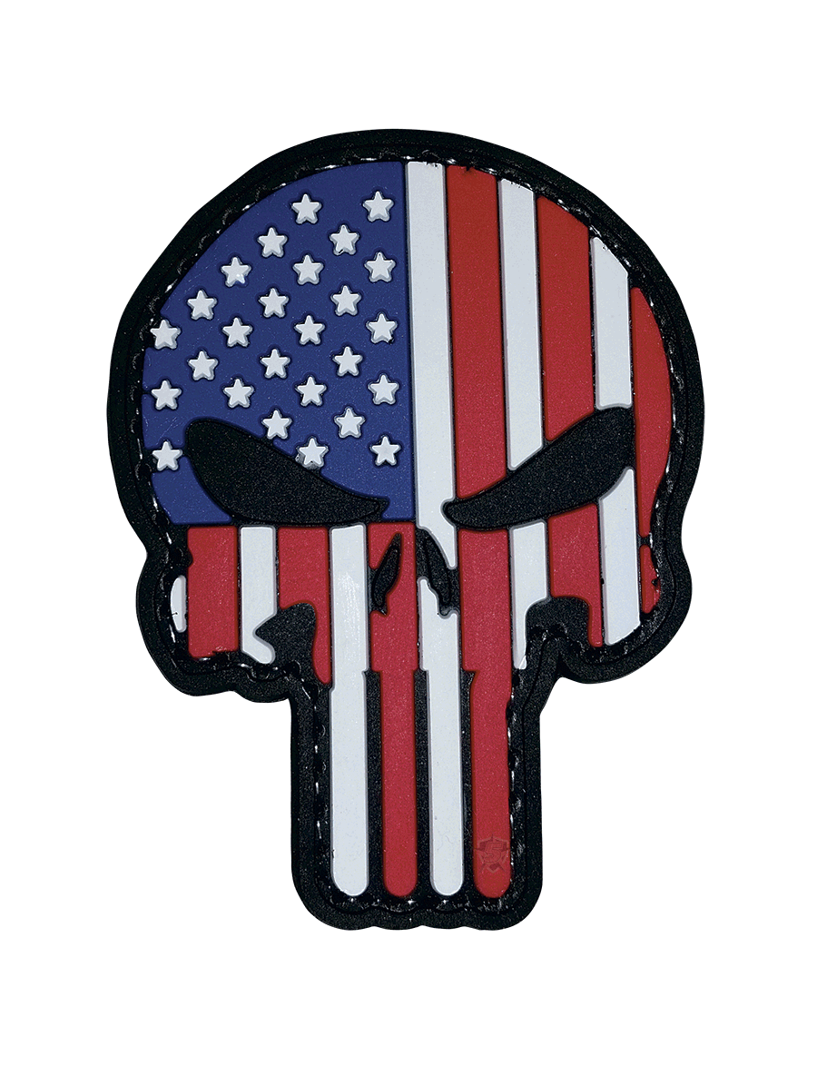 PUNISHER PATRIOTIC MORALE PATCH