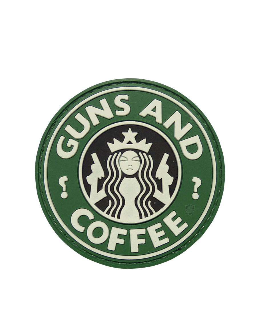 GUNS AND COFFEE MORALE PATCH