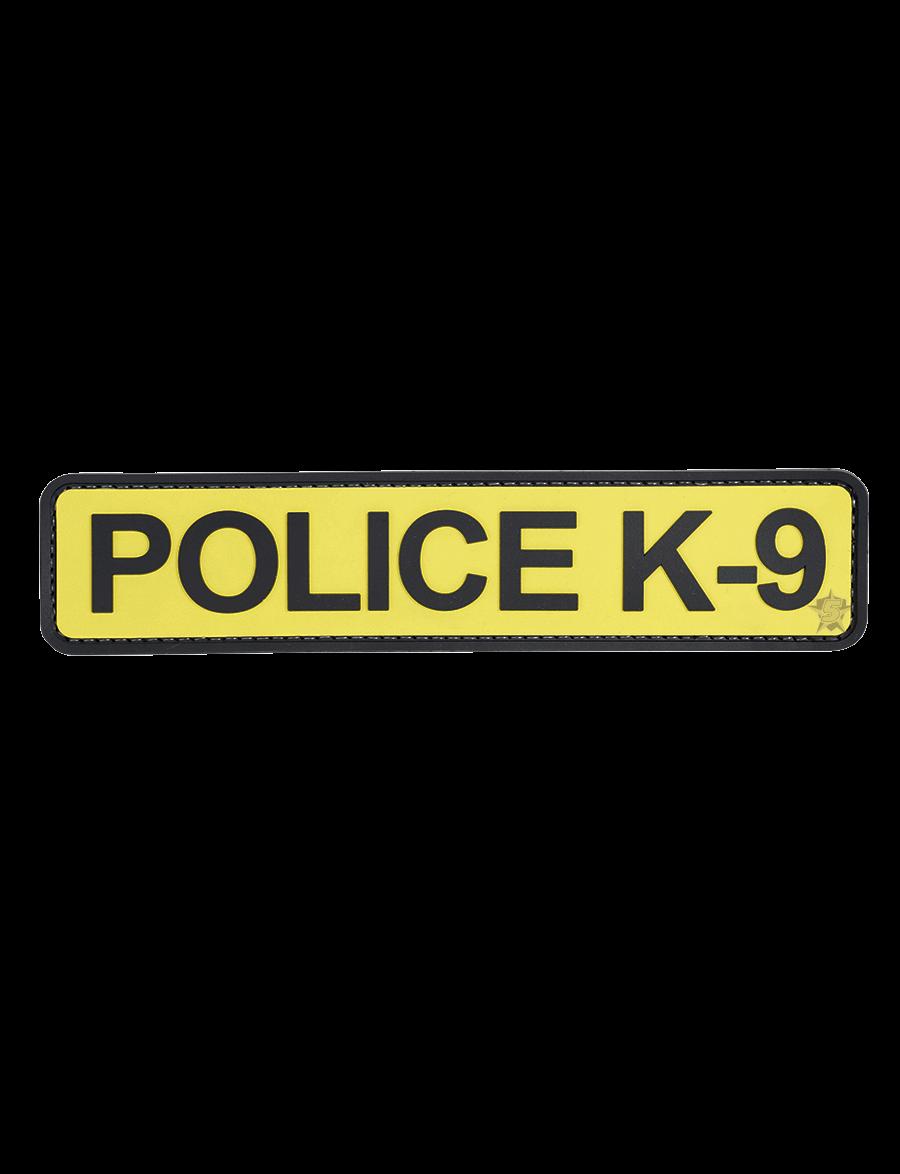 """POLICE K-9 1.75""""X8"""" MORALE PATCH"""